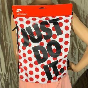 Nike JDI Heritage Sports Bag Gymsack White/Red